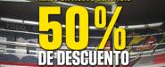 50 % de descuento en recorridos por el Estadio Azteca