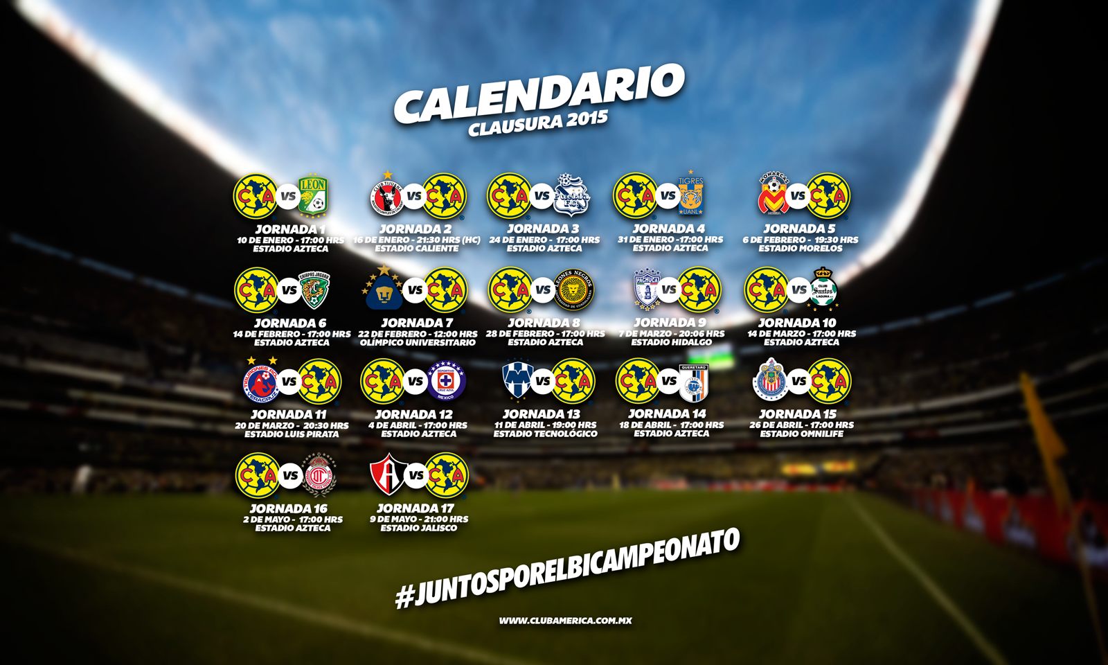 Calendario Clausura 2014 Liga Mx Calendario De Futbol Mexicano 2016