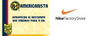 Descuento para AMERICANISTAS en Nike Factory Store