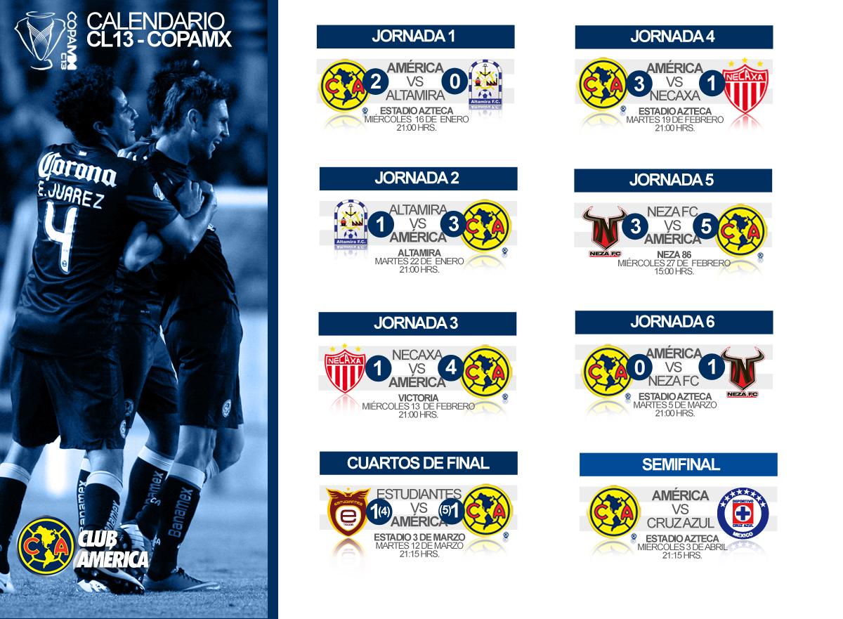 Calendario Coppa America.Copa Mx Club America Sitio Oficial