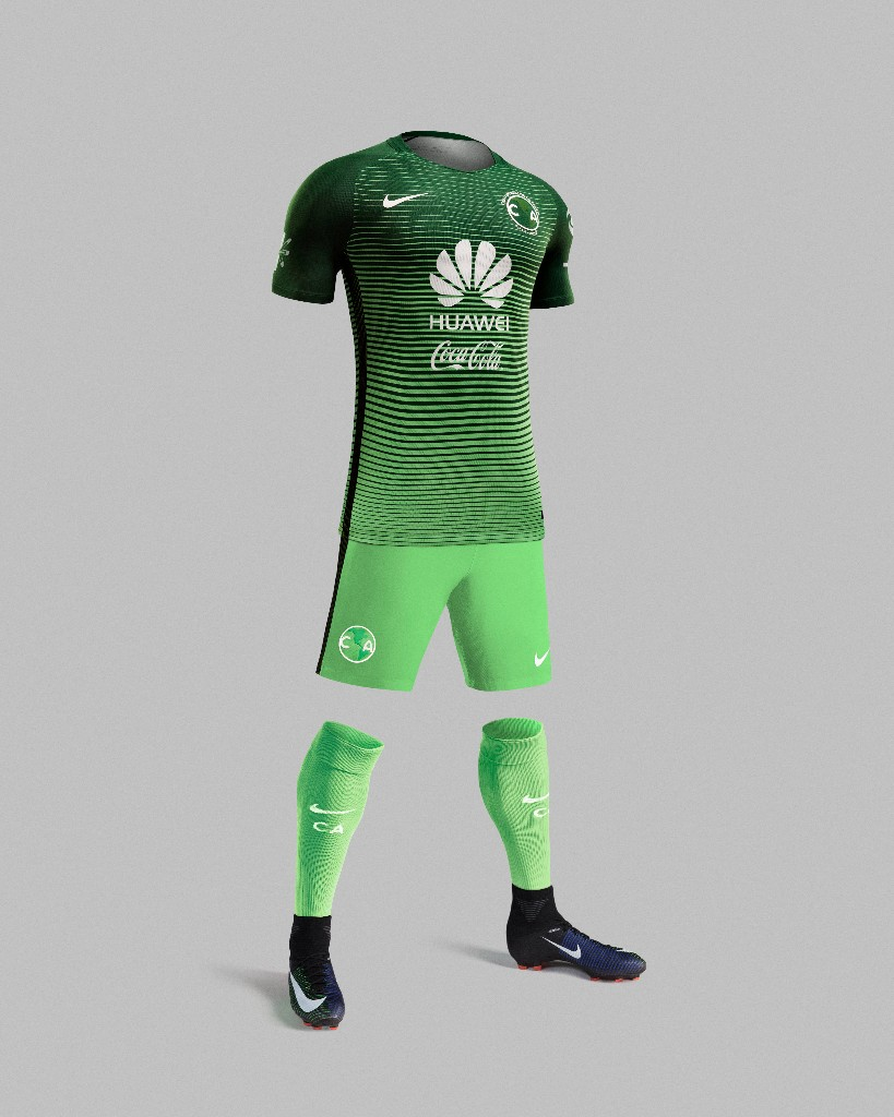 Tercer jersey Nike verde de Leyenda Águilas del América 1a3bac285b27a