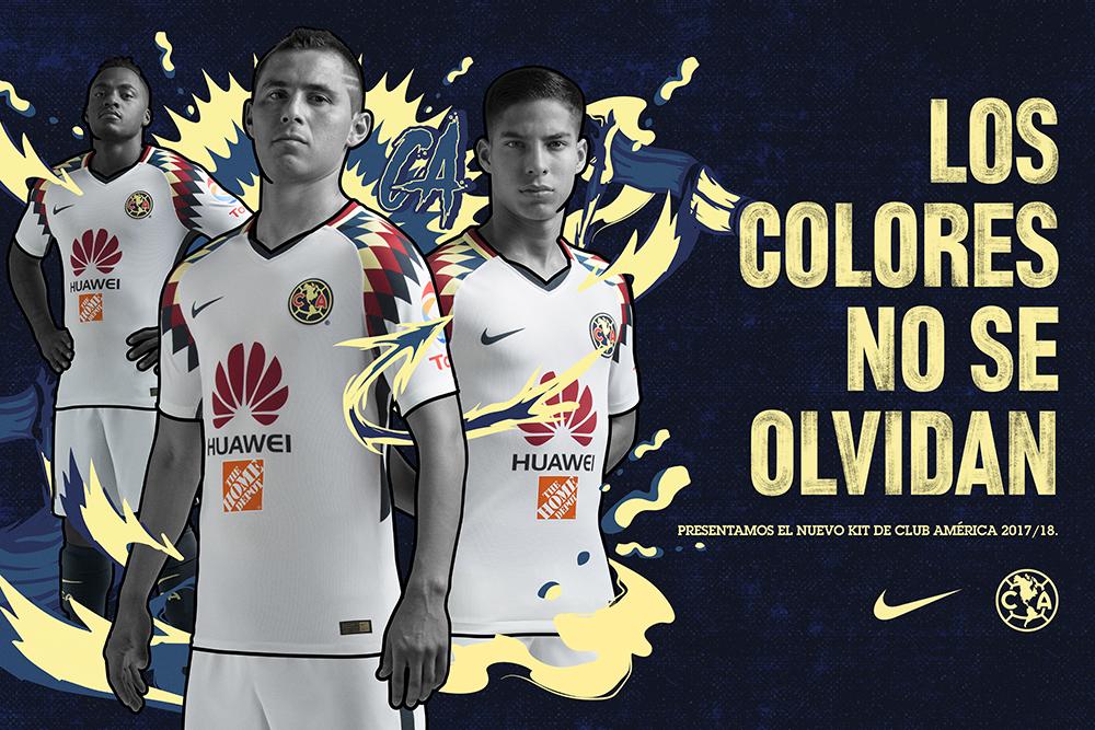 3a2f225cf9d59 El kit es de color blanco y presenta un contraste de color en los hombros  del jersey con gráficos en amarillo crema