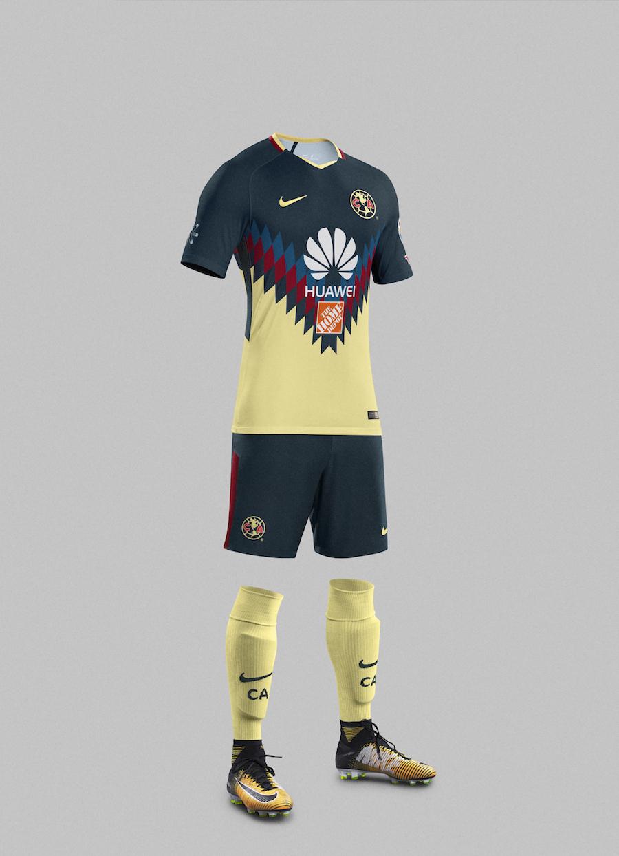 Nike presenta nuevo kit club am rica temporada 2017 18 for Cuarto uniforme del club america