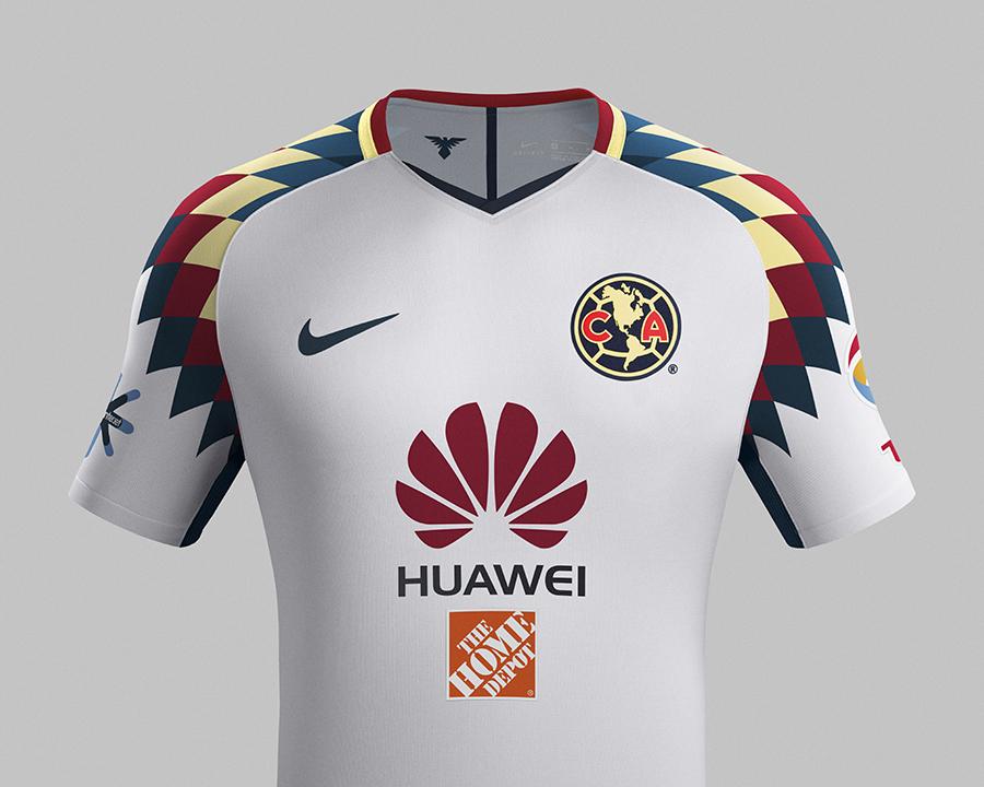 256d72125cb68 Nike Presenta  Nuevo Kit Visitante Club América Temporada 2017 2018 ...