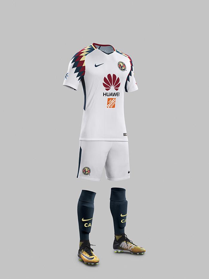 Nike presenta nuevo kit visitante club am rica temporada for Cuarto uniforme del club america